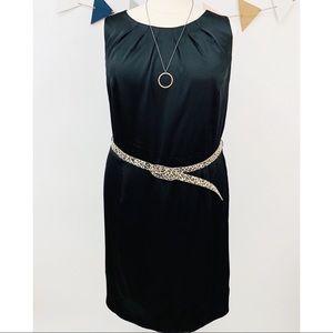 Dresses & Skirts - Little Black Dress w/Leopard Print Belt